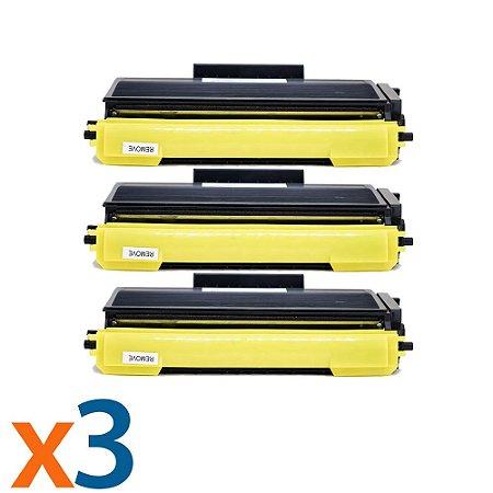 Kit 3 Toners para Brother MFC 8860DN | DCP 8060 | TN 580 | TN 650 Compatível