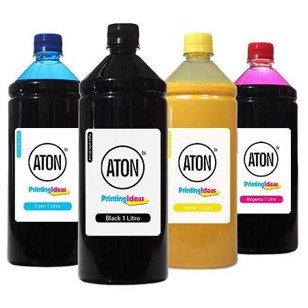 Kit 4 Tintas para HP 970   971 ATON Pigmentada CMYK 1 litro