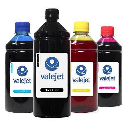 Kit 4 Tintas para HP 8100 | 8600 | 950 Black 1 Litro Coloridas 500ml Valejet
