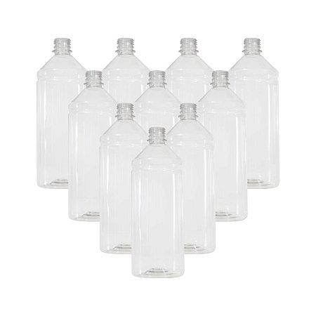 Kit 10 Frascos plásticos de  1 Litro para embalagem de tinta Sem Tampa