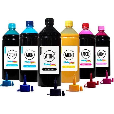 Kit 6 Tintas Sublimáticas para Epson L800 | L810 CMYK Aton 1 Litro