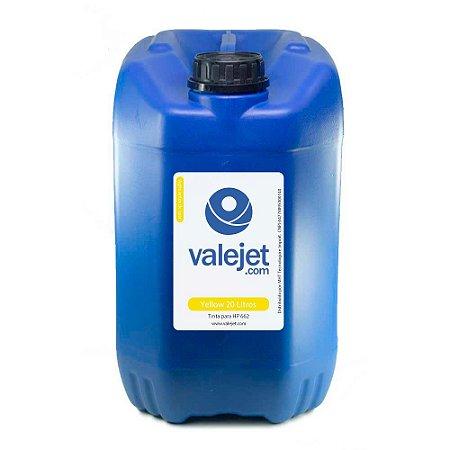 Tinta para Cartucho HP 662 | HP 2515 Yellow 20 Litros Corante Valejet