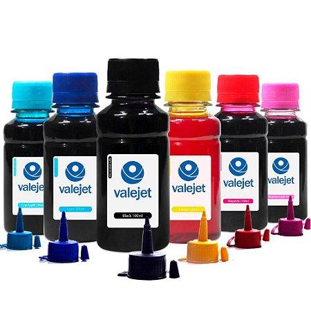 Kit 6 Tintas L805 para Epson Bulk Ink CMYK 100ml Valejet