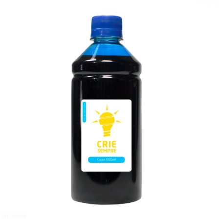 Tinta para Sublimação Premium Crie Sempre Cyan 500ml