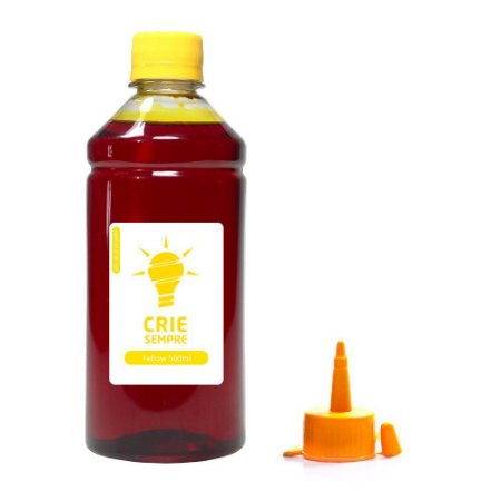 Tinta para Epson L375 Premium Crie Sempre Yellow 500ml Corante
