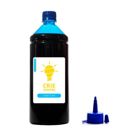 Tinta para Epson L220 Premium Crie Sempre Cyan 1 Litro Corante