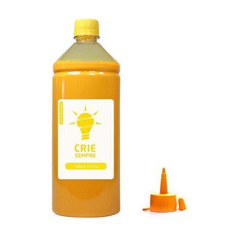 Tinta para Epson L355   L200 Yellow Pigmentada Crie Sempre 1 Litro