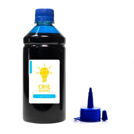 Tinta para Epson L355   L200 Cyan Pigmentada Crie Sempre PREMIUM 500ml