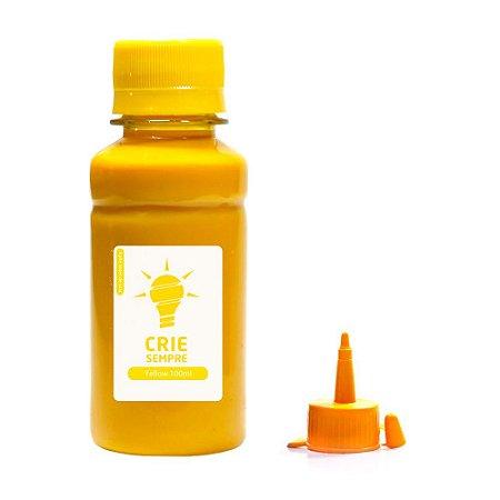 Tinta para Epson L355   L200 Yellow Pigmentada Crie Sempre 100ml