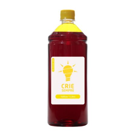 Tinta para Cartucho HP 122 | 122XL Yellow 1 Litro Corante Crie Sempre