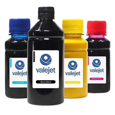 Kit 4 Tintas para HP 904   904XL Black 500ml Coloridas 100ml Pigmentada Valejet