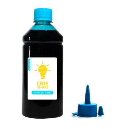 Tinta para Epson L1800 Cyan Light 500ml Pigmentada Crie Sempre
