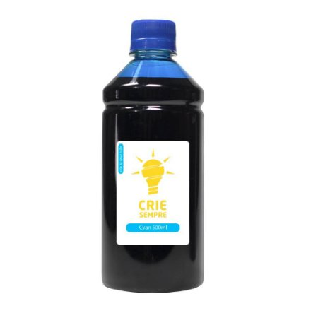 Tinta para HP GT52 Bulk Ink Cyan 500ml Corante Crie Sempre