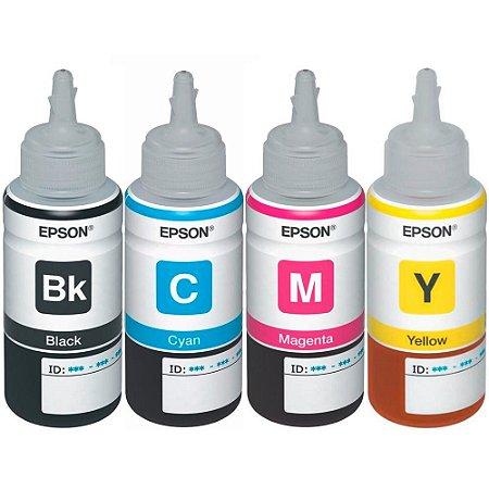 Kit 4 Tintas Epson L395 | T664120 | T664220 | T664320 | T664420 Original