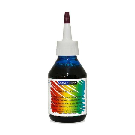 Tinta para Epson L495 Cyan Corante com Bico Aplicador 100g Qualy Ink