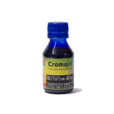 Tinta Sublimática para Epson L455 EcoTank Cyan 100g Cromajet
