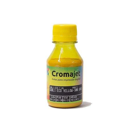 Tinta Sublimática para Epson L455 EcoTank Yellow 100g Cromajet