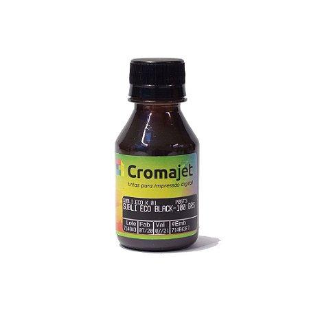 Tinta Sublimática para Epson T664 EcoTank Black 100g Cromajet