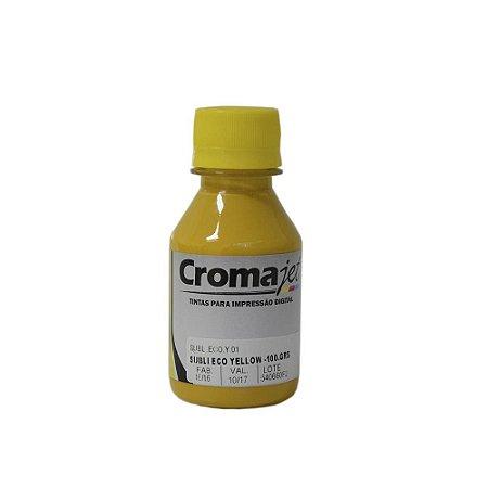 Tinta Sublimática para Epson L1800 EcoTank Yellow 100g Cromajet