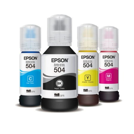 Kit 4 Tintas para Impressora Epson Original L6171