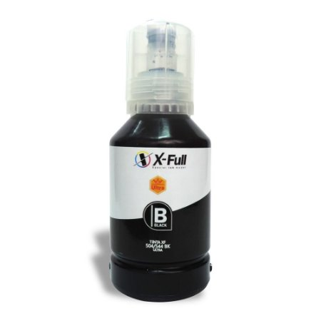 Compatível: Tinta Epson T504/T544 Ultra Pigmentada Black 127ml X-Full