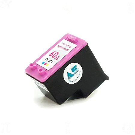 Compatível: Cartucho para HP 60XL | CC641WB Colorido 12,5ml