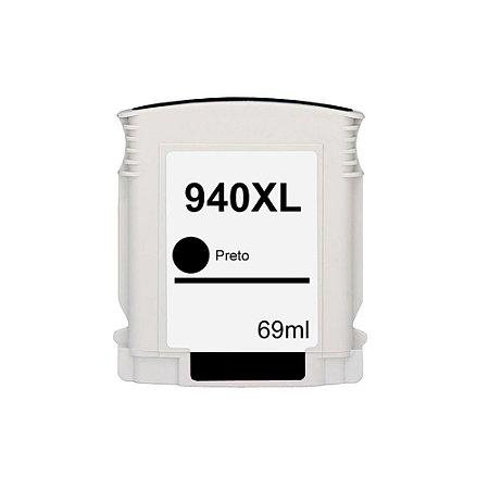 Cartucho para HP 940XL   C4906AL Alto Rendimento  Preto Compatível 69ml