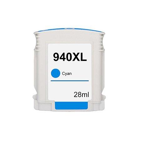 Cartucho para HP 940XL   C4907AL Alto Rendimento Ciano Compatível 28ml