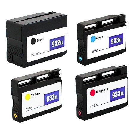 Kit 4 Cartuchos para HP 932XL | 6700 CMYK Compatível