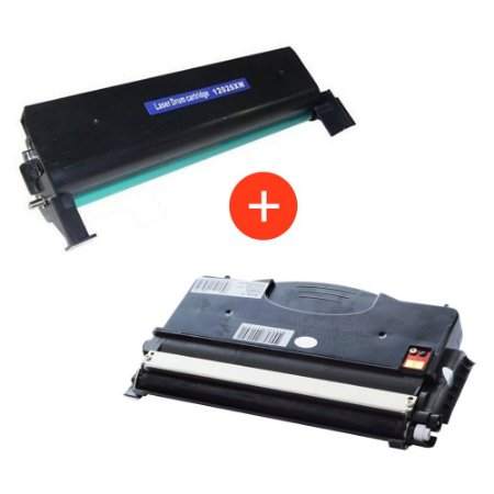 Kit Fotocondutor + Toner Compativel para Lexmark E120 | E120N | Compativel