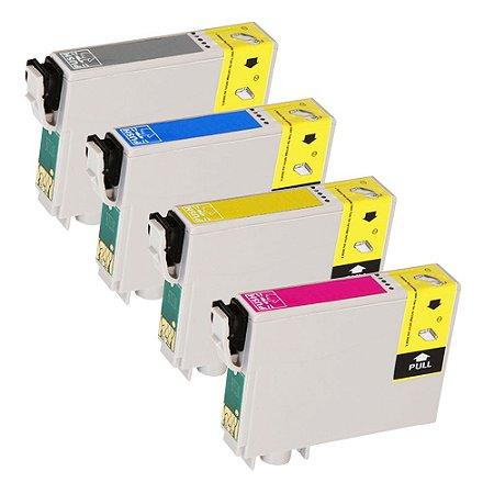 Kit 4 Cartuchos para Epson 133 CMYK Compatível