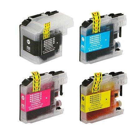 kit 4 Cartuchos para Brother LC509 | LC505 | DCP-J100 CMYK Compatível