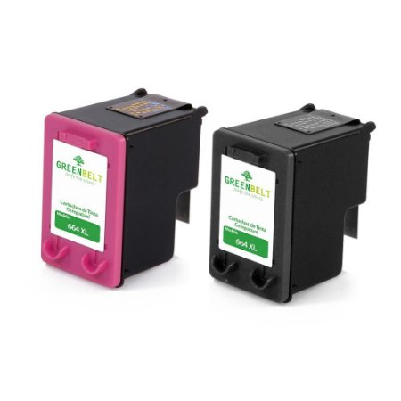 Cartuchos para HP 3636   2136  1115   4536   4676   664 XL Black + Colorido Compatível