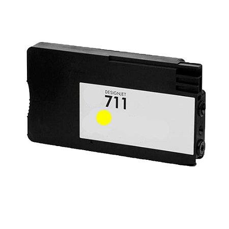 Cartucho de Tinta para HP 711 | T120 | T520 Amarelo Compatível 28ml