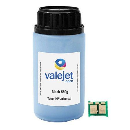 Refil de Toner e Chip para HP CC364A | 64A | P4014 | 4015 Químico 550g