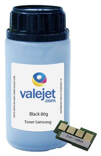 Refil de Toner Samsung e Chip Samsung ML 2160 | ML 2165 | ML 2168 | SCX 3400F | 3405F | MLT D101S 80