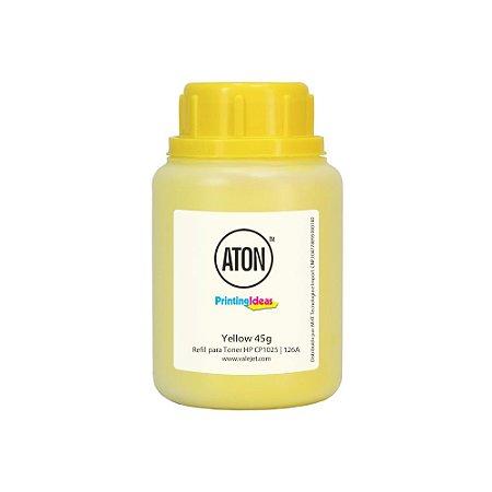 Refil de Toner para HP CP1025 CE313A 126A High Definition ATON Yellow 45g
