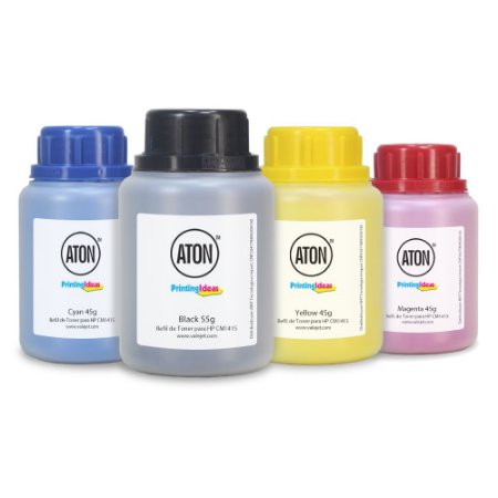 Kit 4 Refis de Toner para HP CM1415 | CP1525 | CP1025 ATON CMYK