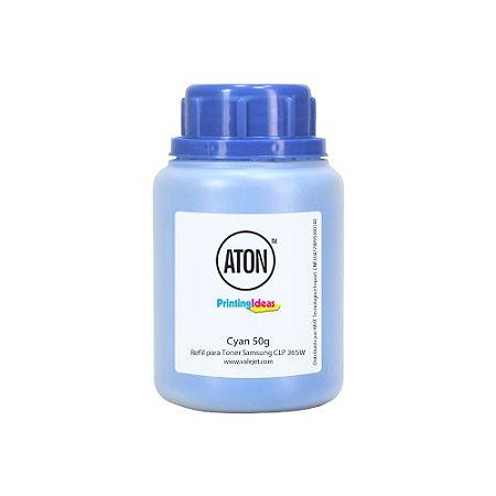 Refil de Toner para Samsung CLP 365W | CLX 3305 ATON Cyan 50g