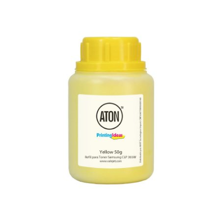 Refil de Toner para Samsung CLP 365W   CLX 3305 ATON Yellow 50g