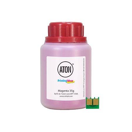 Refil de Toner ATON + Chip Para HP 130A | CF353 | M177FW Magenta 35g