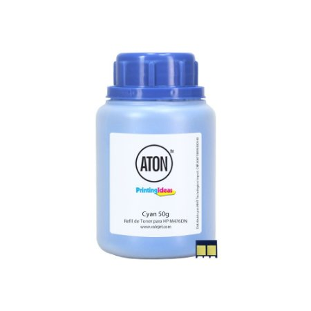 Refil de Toner ATON + Chip Para HP M476DN   M476DW CF381A Cyan 50g