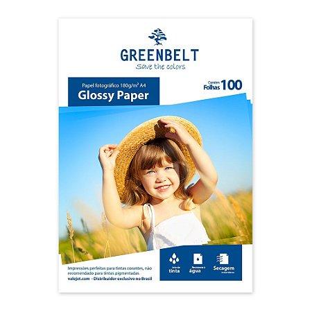 Papel Glossy A4 180g Greenbelt 100 folhas