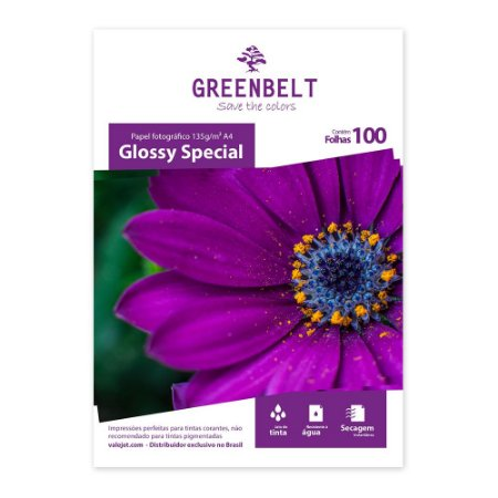 Papel Glossy A4 135g Greenbelt 100 folhas
