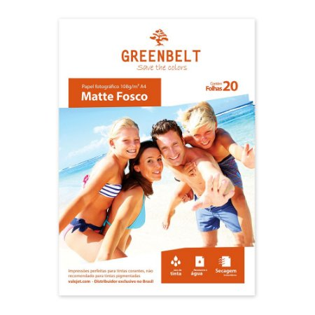 Papel Fotográfico Matte Fosco 108g - 20 folhas