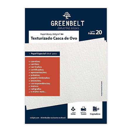 Papel Texturizado Casca de Ovo A4 260g Greenbelt 20 folhas
