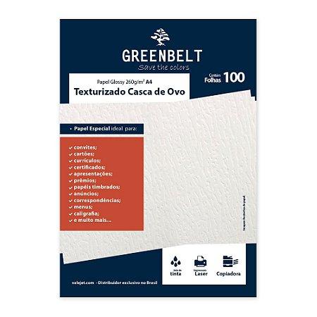 Papel Texturizado Casca de Ovo A4 260g Greenbelt 100 folhas
