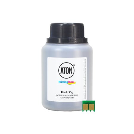 Refil de Toner ATON + Chip Para HP 130A | CF351 | M177FW Black 35g