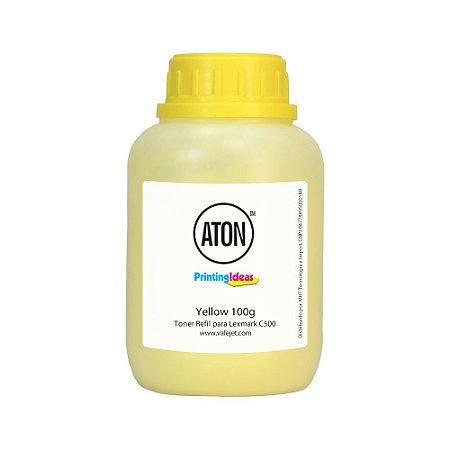 Refil de Toner Lexmark C500 | C500N | X500 | X500N Yellow 100g Aton