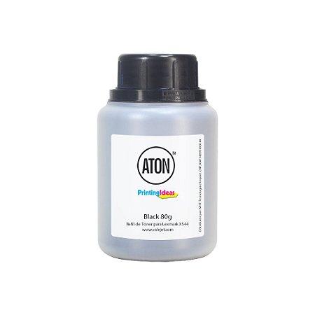 Refil de Toner Lexmark X544 | C544 | X548 | C540 | X543 Black 80g Aton